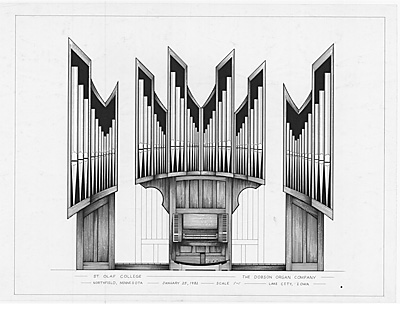 Organ Pipes Drawing of Lynn Dobson's Drawings